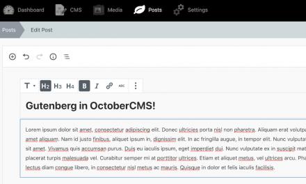 Gutenberg Plugin for OctoberCMS Now in Beta
