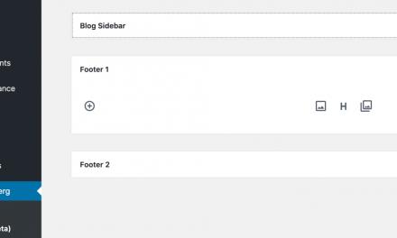 Gutenberg 5.8 Released with Prototype of New Block-based Widgets Screen