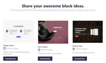 Creator of EditorsKit Launches Community Block-Sharing Site